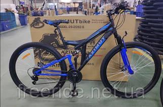 Двухподвесный велосипед Azimut Power 27,5 G-FR/D (19) черно-синий