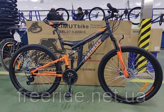 Двухподвесный велосипед Azimut Power 27,5 G-FR/D (19) черно-оранжевый