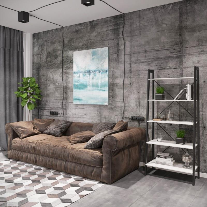 Стеллажи в стиле лофт Стелаж 5 полок Металл-Дизайн / Metall Design