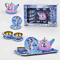 Набір посуду Frozen,метал,13 предметів,посуд,набір посудки QZ1002-1/3,металевий посуд