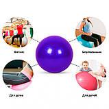 Фітбол (М'яч для фітнесу, гімнастичний) глянець OSPORT 65 см (OF-0018) Синій, фото 5