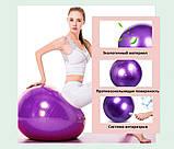 Фитбол (Мяч для фитнеса, гимнастический) глянец OSPORT 65 см (OF-0018) Фиолетовый, фото 5