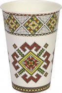 Стакан бумажный Eventa Украинская коллекция 300 мл в ассортименте 10 шт.