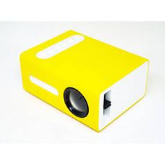 Мини проектор T300 Желтый
