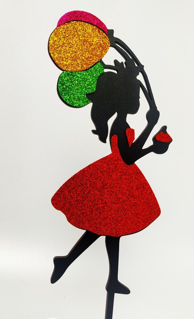 Топпера принцесса цветная.Красная