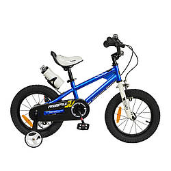 "Велосипед RoyalBaby FREESTYLE 14"", OFFICIAL UA, синій"