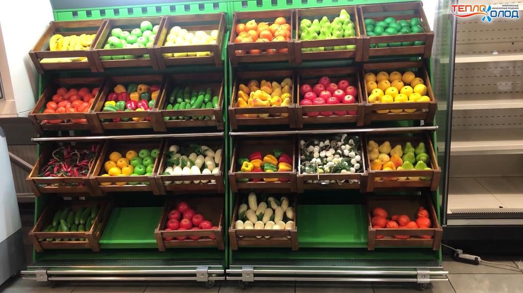 Реставрация пристенной витрины для овощей фруктов