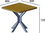 Стіл робочий на металевому каркасі РОМБО, фото 3