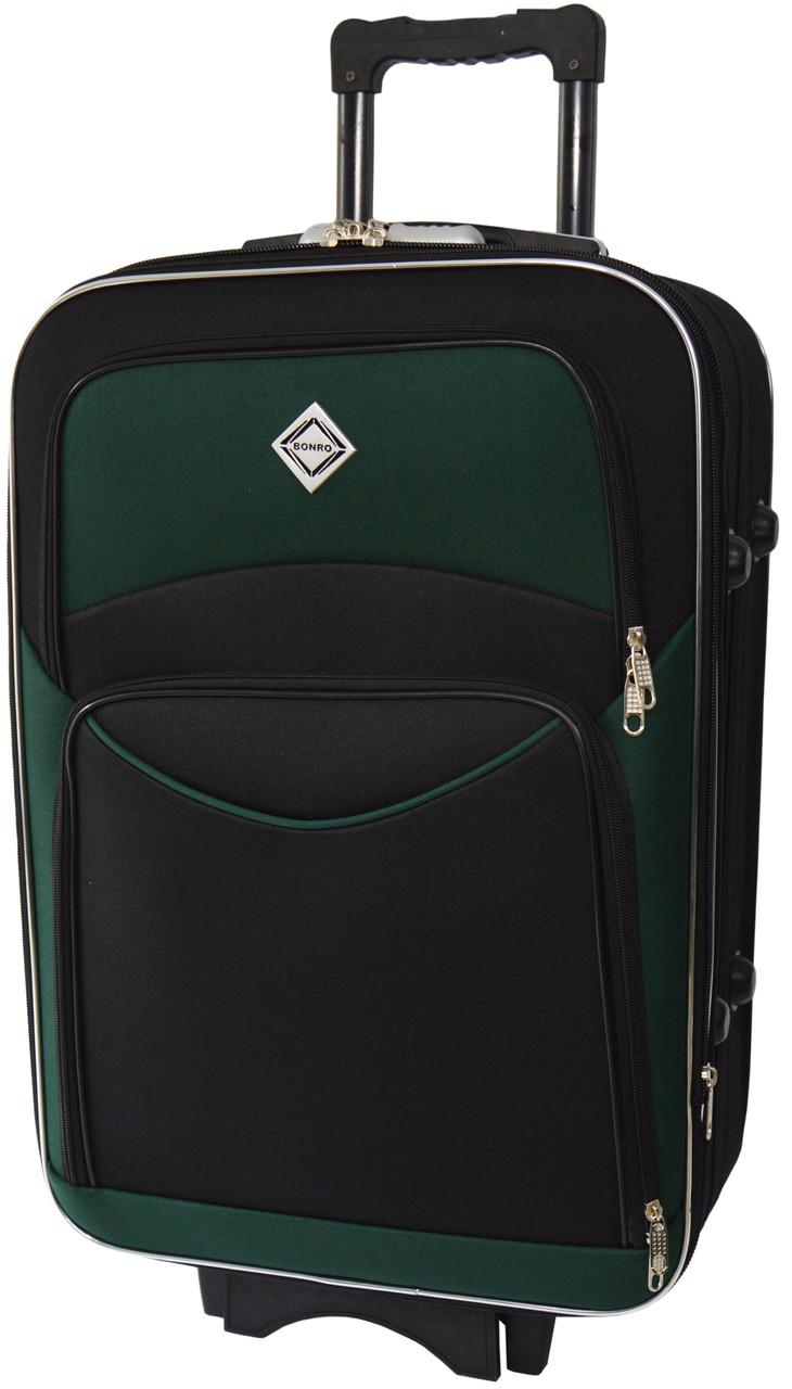 Валіза Bonro Style середня чорно-зелена (10012316)