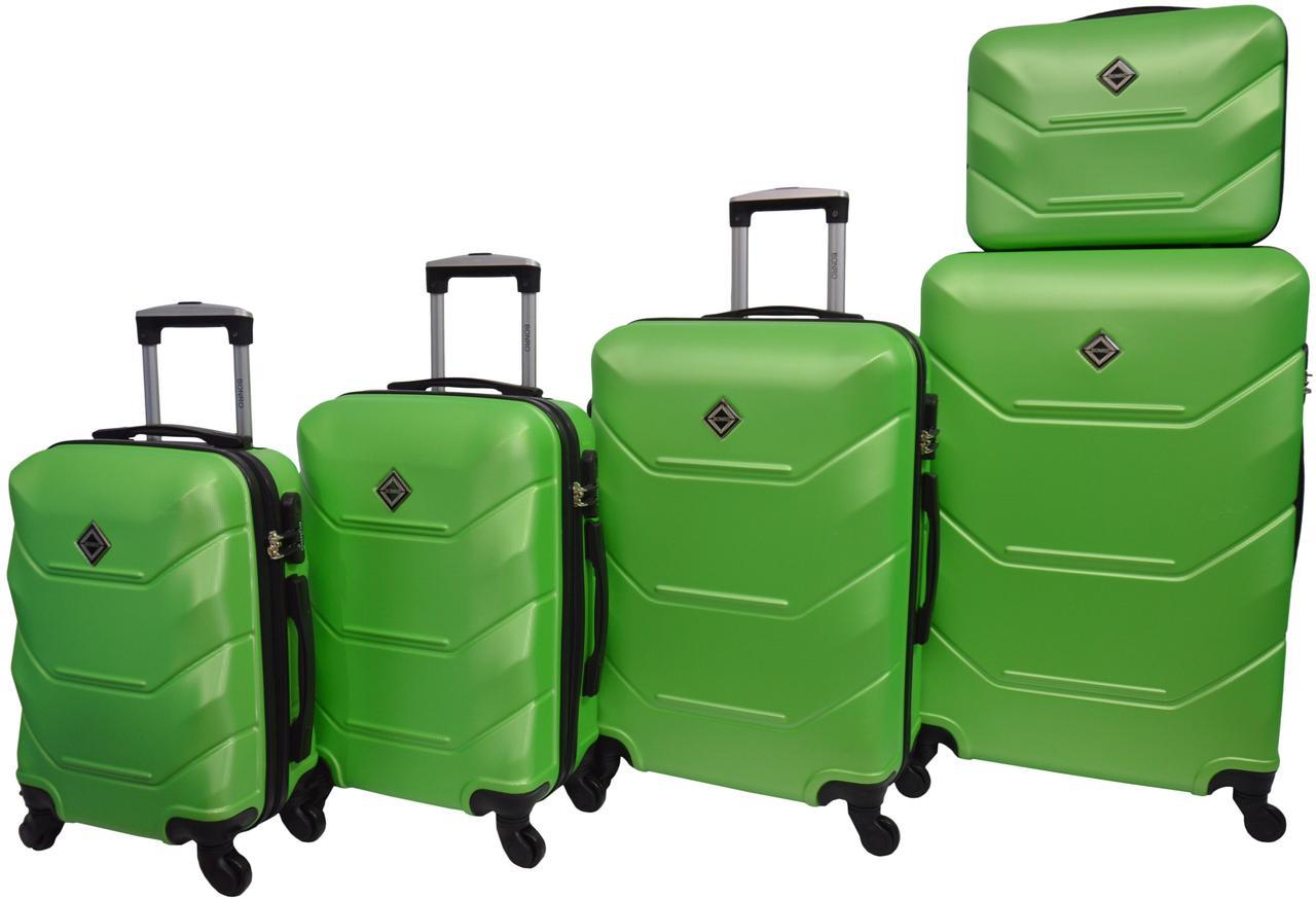 Набір валіз 5 штук Bonro 2019 салатовий (10500105)