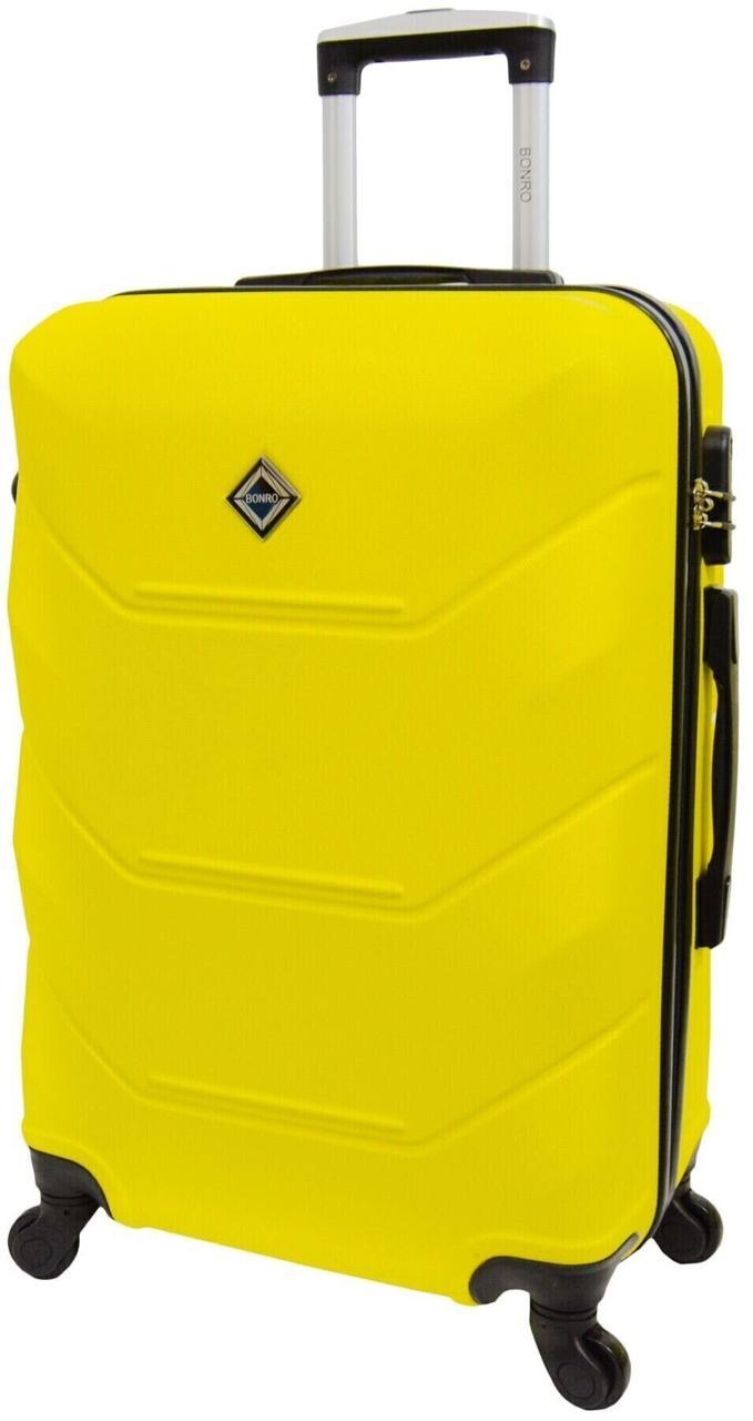Валіза Bonro 2019 маленька жовта (10500400)