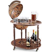 Глобус бар напольный со столиком Zoffoli, Италия «Джазон»,h-110см, d -40см (248-0006)