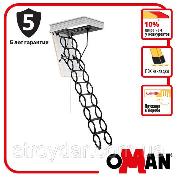 Горищні сходи Oman FLEX TERMO METAL BOX 120x70, 120x60 мм
