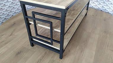 Стеллажи в стиле лофт Квадро Тумба ТВ Металл-Дизайн / Metall Design, фото 2