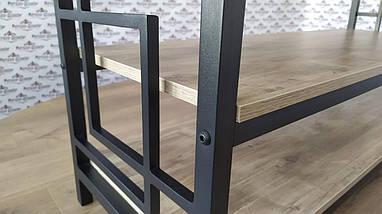 Стеллажи в стиле лофт Квадро Тумба ТВ Металл-Дизайн / Metall Design, фото 3