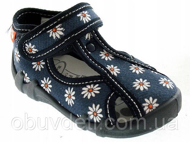 Тапочки  для девочки Renbut 23-15,0 cm с кожаными стельками