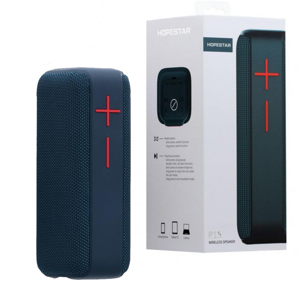 Портативна бездротова Bluetooth колонка Hopestar P15 Сіра Потужна водонепроникна USB FM акустика