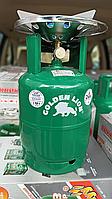 Туристический газовый баллон-пикник Rudyy - Golden Lion VIP усиленный  с горелкой объемом 8 литров