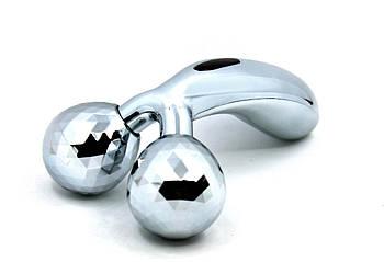Ручной лифтинг 3D MASSAGER массажер для лица и всего тела 155х90 Серебристый (200516)