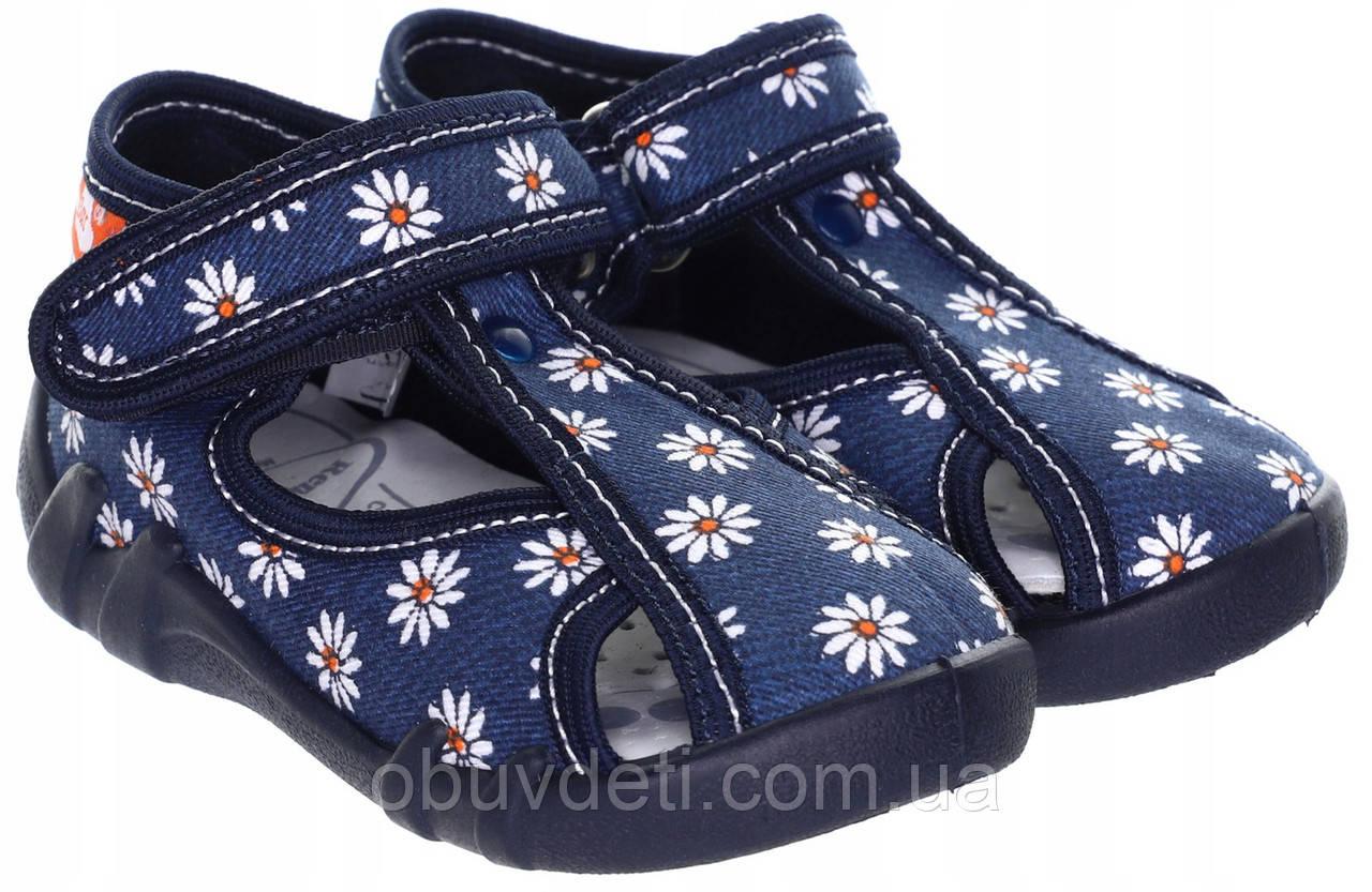 Тапочки для девочек renbut с кожаными стельками 25- 16 см