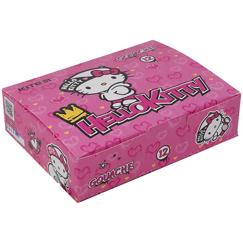 Гуаш, 12 кольорів, 20мл Hello Kitty hk21-063