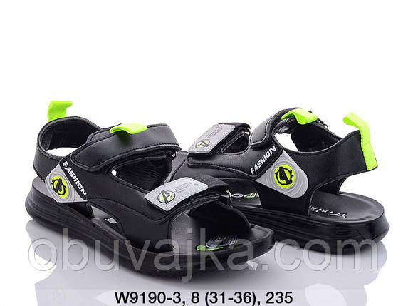Дитяче літнє взуття 2021 оптом. Дитячі босоніжки бренду W niko для хлопчиків (рр. з 31 по 36), фото 2