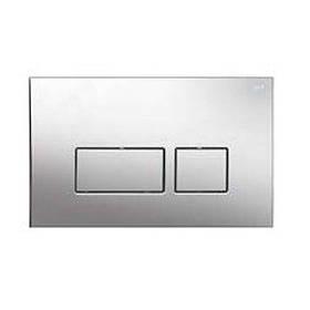 Змивна клавіша для бачка прихованого монтажу NKP прямокутник хром (264х166х15 мм)