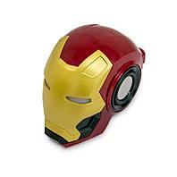 Беспроводная блютуз колонка Железный человек Mark46 красно-золотая, портативная bluetooth для телефона (GIPS)