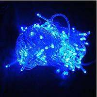 (GIPS), Ялинкова гірлянда 15 метрів 500 LED (лампочок) Синя, Білий кабель, що світиться гірлянда | лед гирлянда
