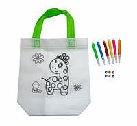 Дитяча сумка розмальовка 24х10х22 см з принтом жирафа (Z07), сумка з паєтками для дівчаток (GIPS)