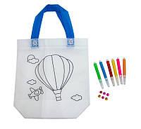 Сумка розмальовка для дівчинки 24х10х22 см з принтом повітряна куля (Z03), сумка з паєтками дитяча (GIPS)