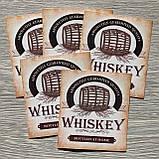 """Сувенирная наклейка на бутылку """"Виски"""" на англ.яз, фото 2"""