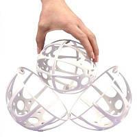 Контейнер для стирки бюстгальтеров Bubble Bra Белый, шар для стирки нижнего белья Bra Protector (GIPS)