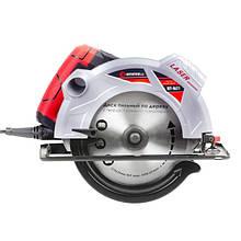 Пила дисковая 1800Вт, 5000об/мин, угол 90-45, глубина распила 73-48мм, диск 210мм*30мм, 40 зубов, лазер