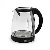 (GIPS), Скляний електрочайник з підсвічуванням Domotec MS-8110, чайник електричний 2 літри | чайник электрический