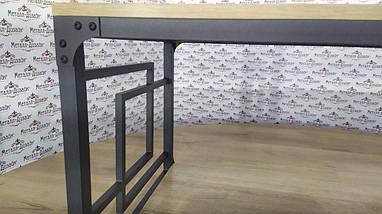 Стелажі в стилі лофт Стіл журнальний Квадро Метал-Дизайн / Metall Design, фото 2
