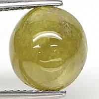 Кабошон сфен титанит, 10,7*10,6 мм., 7,3 карат, 756КБС, фото 1