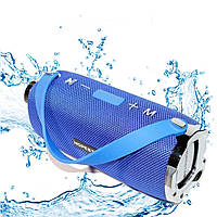 Портативная беспроводная Bluetooth колонка Hopestar H24 Синяя Мощная USB FM стерео акустика Спикерфон