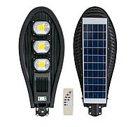 Уличный фонарь на солнечной батарее на столб UKC (ART7482) 330W, светильник с датчиком движения и пультом