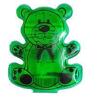 """Солевая грелка для детей """"Мишка"""" Зеленый, многоразовая химическая грелка с солью   грілка дитяча (GIPS)"""