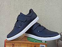 Кожаная осенняя обувь , черные и синие