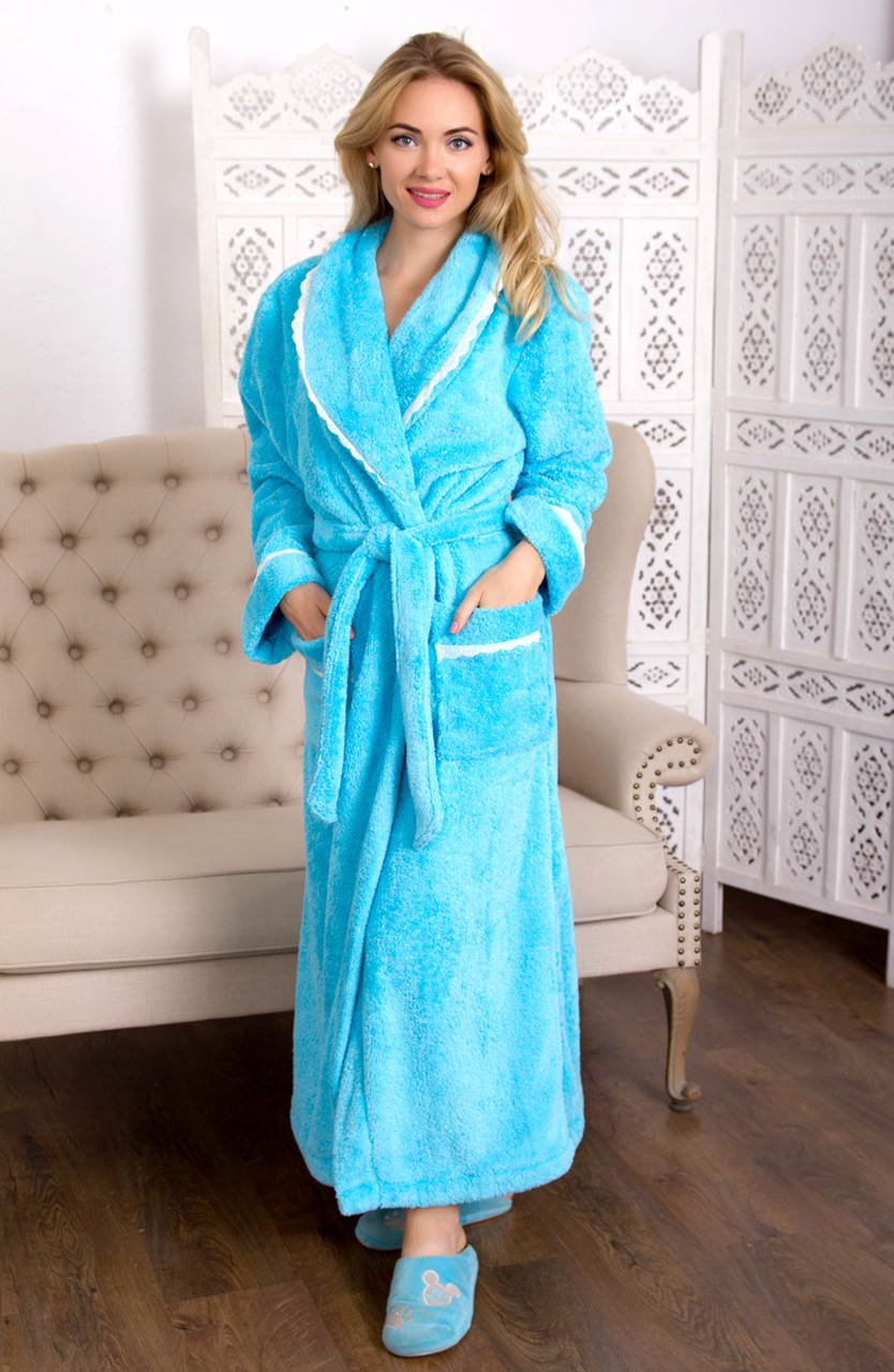 Домашний  халат       Длинная, махра