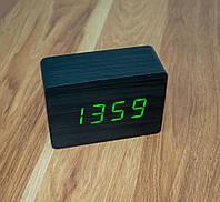 Распродажа! Настольные лед часы ET 009 черного цвета, светодиодные часы с термометром (GIPS)