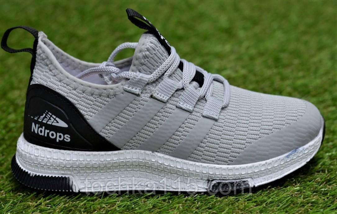 Дитячі кросівки аналог адідас сірі adidas Runfalcon Grey р31-34