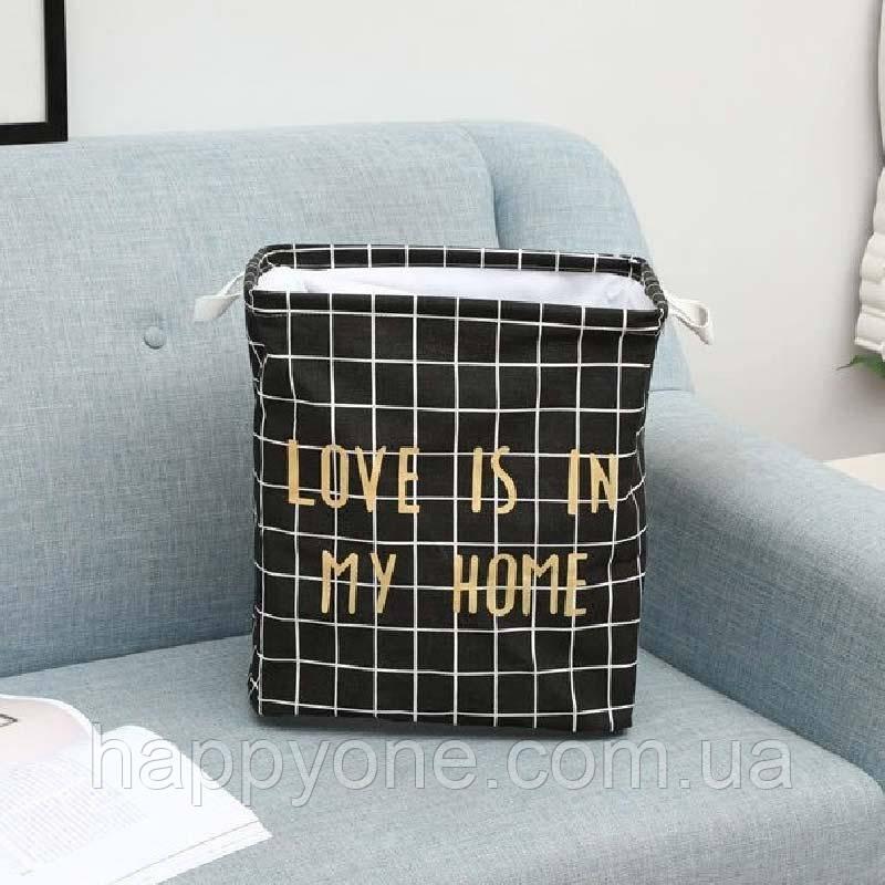 Корзина для белья и игрушек Love (черный)