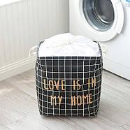 Корзина для белья и игрушек Love (черный), фото 2