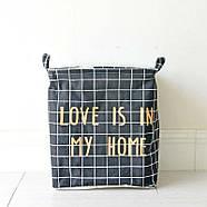 Корзина для белья и игрушек Love (черный), фото 3