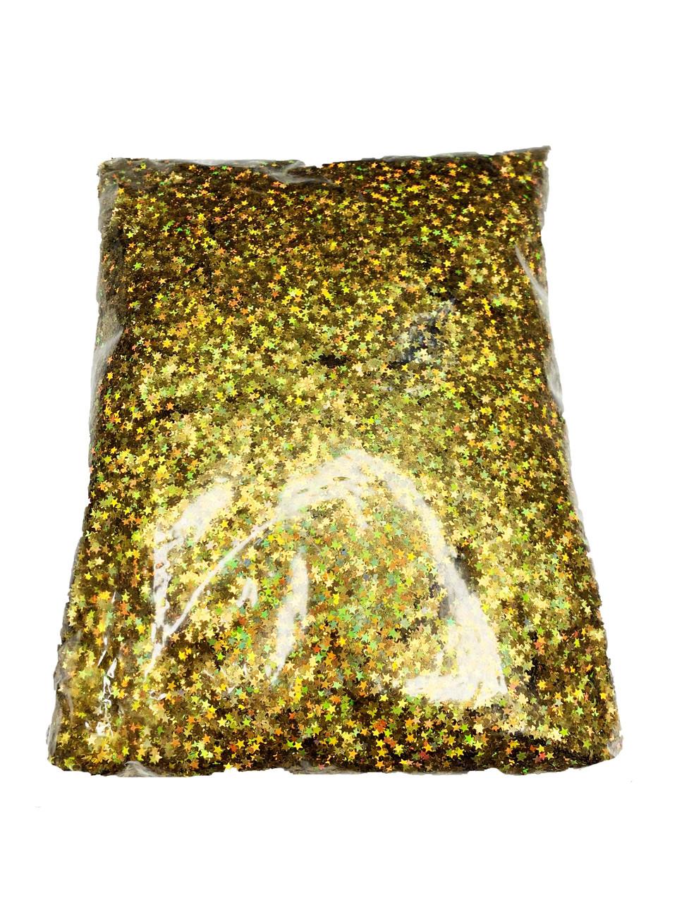Гліттер Зірочки Золото 0,5 кг