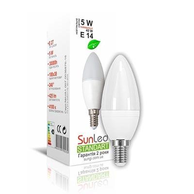 Лампа светодиодная 5W E14 Свечка Standart