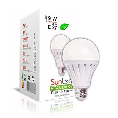 Лампа світлодіодна 9W E27 Куля Standart